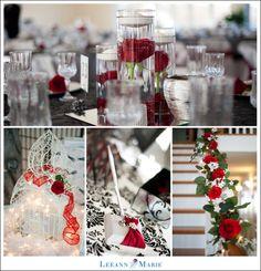 red, white, and black weddings | Red Black White Wedding Details | Leeann Marie | Pittsburgh Wedding ...