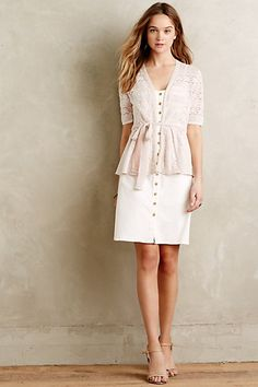 Anthropologie EU Ethereal Lace Cardi