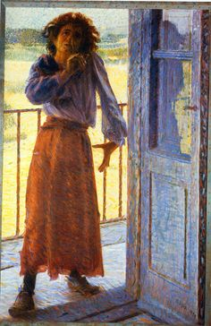 Giacomo Balla, The Madwoman. 1905, oil on canvas. Galleria Nazionale d'Arte Moderna e Contemporanea, Rome, Italy.