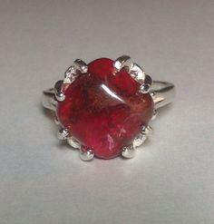 Beautiful Red Sea sediment jasper ring set in sterling silver.