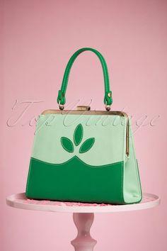 topvintagebirthdaylook TopVintage Boutique Collection 50s Ava Green Handbag  212 40 24444 21032018 007W Groene Handtas 333bb685681cb