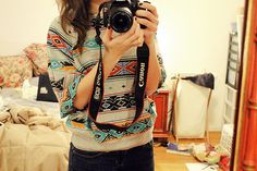 tribal baggy sweater!