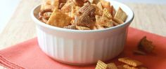 The crowd will go wild for this snack mix packed with some serious flavor thanks to Buffalo wing sauce, ranch and cheesy crackers.
