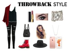 """""""Throwback Style"""" by sakeenah1 ❤ liked on Polyvore featuring Dr. Martens, Miss Selfridge, MANGO, rag & bone, Sara Designs and Chanel"""
