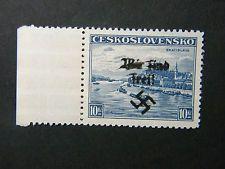 Local Deutsches Reich WW II Sudetenland Occup overprint Rumburg