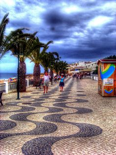 Promenade in Praia da Luz, Algarve, Southern Portugal ✯ ωнιмѕу ѕαη∂у Algarve, Destinations, Spain And Portugal, Mediterranean Sea, Mother Earth, Strand, Costa Rica, Over The Years, Bliss