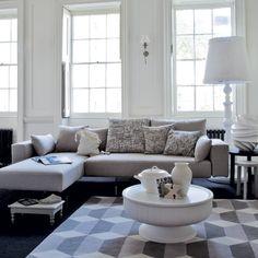 Relaxed white living room