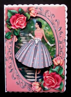 Fabulous Fifties Ladies Bumper Kit on Craftsuprint - View Now! Purple Lily, Quick Cards, Antique Roses, The Balloon, Vintage Beauty, Daffodils, I Card, Pink Roses, Decoupage
