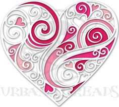 This Heart is only for inspiration for quilling!