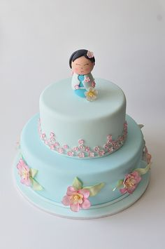China Doll Christening Cake by Sweet Tiers, via Flickr