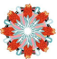 Symbol/Mandala design Mandala Design, Rooster, Behance, Symbols, Animals, Behavior, Animales, Animaux, Icons