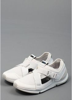 Adidas SLVR Leather Buckle Trainers White
