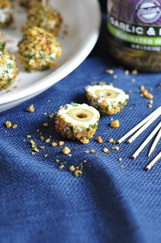 Herbed Cheese Covered Olives #STARFineFoods