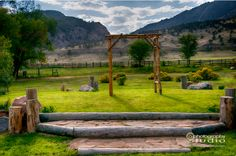 Can't beat this view from the Heart Song ceremony site! #sylvandaleranch #ranchwedding #rustic #colorado #wedding #ceremony