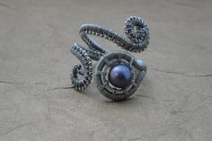 Wire Wrapped Ring Adjustable Woven Wire Scroll Ring от ForestBeads