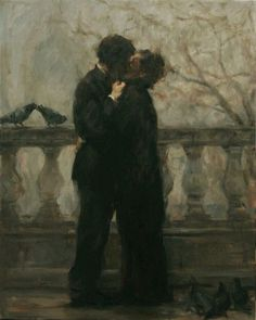 """17k Likes, 76 Comments - Paintings Daily (@paintings.daily) on Instagram: """"Ron Hicks - The Embrace #art #arthistory #historyofart #paintingsdaily"""""""