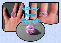 SALE Stunning Handmade Pink and Purple Swirl Ring by BeadBoutiquebyLou, £3.00