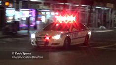 NYPD Police Cars Responding Code 3