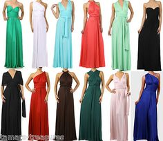 INFINITY WRAP Jersey MULTI-WAY Convertible MAXI DRESS Long Wedding Bridesmaid