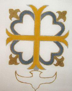 """D-439 Cross-Huguenot #18 Mesh, 5 1/2 x 7 1/2"""""""