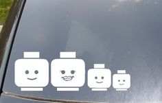 'Lego' family car stickers!