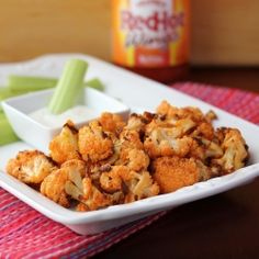 Roasted Buffalo Cauliflower - A healthy and delicious alternative to Buffalo wings with none of the guilt!
