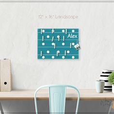 A beautiful way to display your cards and memos and decorate any room. This display board can be hanged in a dorm, kids room, teens room, office, kitchen, family space and more. Each bulletin board is…  More