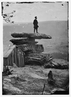 View of Umbrella Rock, Lookout Mountain      Chattanooga, Tennessee (vicinity), 1864