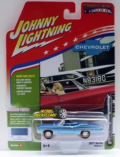 1:64  JOHNNY LIGHTNING MUSCLE CARS USA 2017 SERIES 1B - 1968 CHEVY IMPALA CONVER #JohnnyLightning #Chevrolet