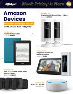 Amazon Black Friday Ad Scan, Deals and Sales 2019 The Amazon 2019 Black Friday ad is here! Be sure to subscribe to our newsletter to receive emails about all the latest Black Friday news and ad leaks ... #blackfriday #amazon Amazon Black Friday, Black Friday Ads, Friday News, Hd Security Camera, Ring Video Doorbell