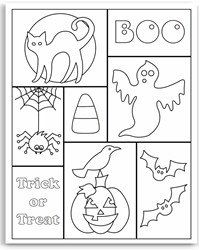 free halloween coloring pages - Halloween Coloring Page