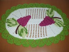 Jogo de cozinha de crochê Tapete oval #aldacilenerochê - YouTube