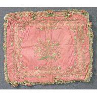 [ Click to enlarge ]    Pocketbook, pink, embroidered    1775-1790  Origin: Europe, France