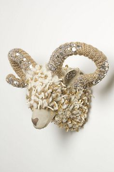 Winter Dream Ram Bust #anthropologie New gift for my walls at home