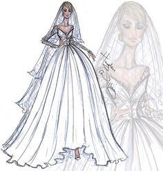 Bridal Couture 2014 by Hayden Williams  ~ #fashion #illustrations #sketch