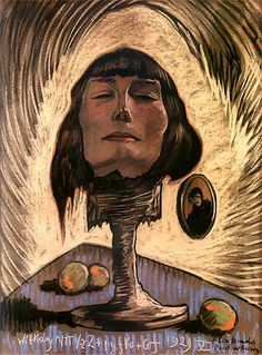 """Portrait of Maria Nawrocka"" by Stanisław Ignacy Witkiewicz (Witkacy) The Crow, In Her Eyes, Portraits, Artist Names, New Artists, Art Nouveau, Art Deco, Illustrators, Cool Art"