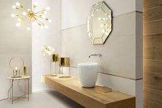 Balance | Tubądzin Bathroom Inspiration, Small Bathroom, Bathrooms, Toilet, Art Deco, Bathtub, Glamour, Mirror, Furniture