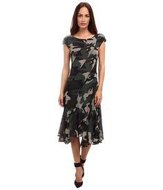 Jean Paul Gaultier Camo Tulle Cap Sleeve Bias Dress
