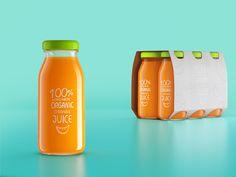 homemade juice by Mario Dragic, via Behance