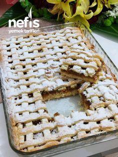 Elmalı Turta ( Büyük Borcam Ölçülü ) - Nefis Yemek Tarifleri Mini Desserts, Subway Cookie Recipes, Cheesecake Recipes, Dessert Recipes, Sweet Sauce, Food Platters, Arabic Food, Turkish Recipes, Apple Recipes