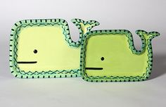 Super cute Whale Plates in two sizes. #maycocolors