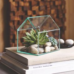 The Design Ideas Farnsworth terrarium is a nod to mid-century modern designs, sure to give you just the aesthetic you're searching for. Intended to function as a terrarium, it is also an attractive vessel for a clean white votive, or a home for some special object you wish to display and share.