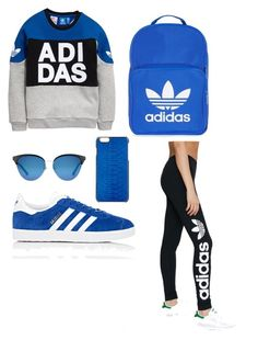 """Blue adidas"" by omaimamassher on Polyvore featuring adidas Originals, adidas, ADOPTED and Gucci"