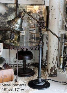 Antique Parts 1 of a Kind Designer Lamp HandMade Steam Punk-