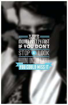 Ferris Bueller Typography Poster by sap41387 on Etsy, $15.00