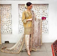 Wedding Salwar and Kameez wedding dresses shalwar kameez Pakistani Fashion Party Wear, Pakistani Wedding Outfits, Pakistani Couture, Pakistani Wedding Dresses, Nikkah Dress, Dress Wedding, Shadi Dresses, Pakistani Formal Dresses, Pakistani Dress Design