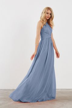 Zara kleid sky blue maxi dress
