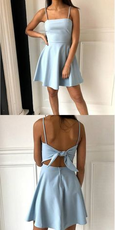 Prom Dress Tight, A-Line Spaghetti Straps Above-Knee Light Blue Satin Homecoming Dress. - Prom Dress Tight, A-Line Spaghetti Straps Above-Knee Light Blue Satin Homecoming Dress with B, Source by - Light Blue Homecoming Dresses, Mini Prom Dresses, Hoco Dresses, Tight Dresses, Pretty Dresses, Evening Dresses, Elegant Dresses, Wedding Dresses, Dress Prom