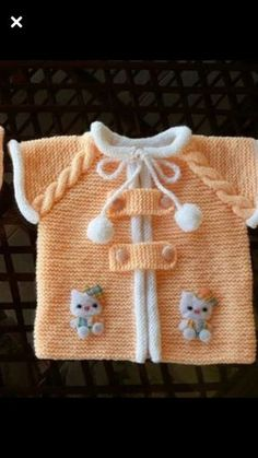 Baby vest decoration techniques - knitted vest decorations for babies : Baby vest decoration techniques – knitted vest decorations for babies Baby Knitting Patterns, Baby Patterns, Knit Or Crochet, Crochet For Kids, Baby Girl Vest, Baby Girls, Knitted Baby Clothes, Baby Knits, Vest Pattern