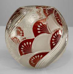 Art Deco Continental Glass Vase
